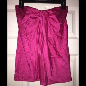 Pink DKNY silk strapless top
